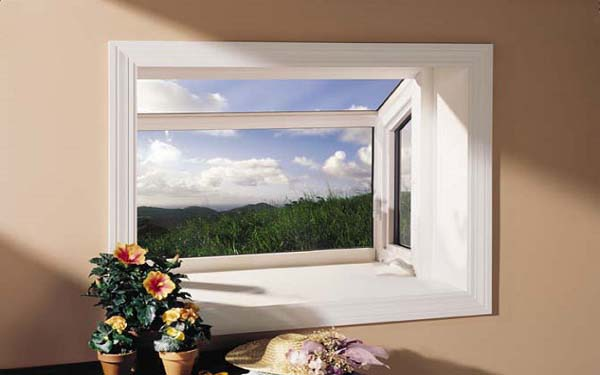 Residential Vinyl Garden Windows Image