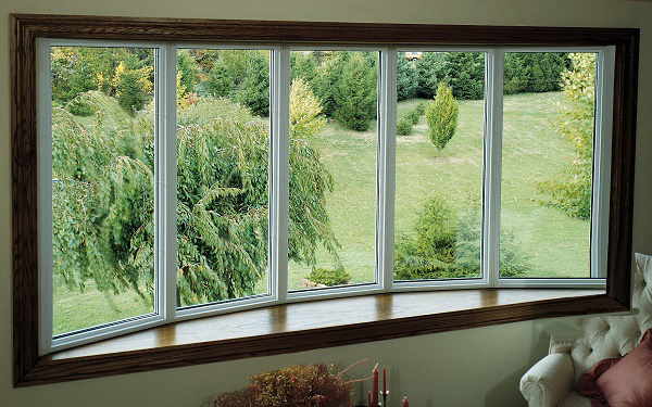Residential vinyl bow windows newtec windows for Vinyl bay window