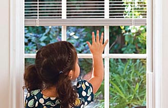 Vinyl Sliding Doors Child and Pet Friendly (blinds between glass)