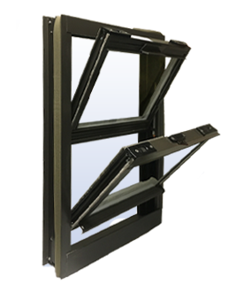 Commercial Aluminum Double Hung Windows