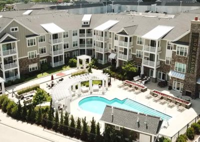 Reserver Apartment Complex Pool View
