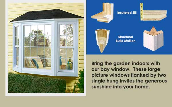 Residential Vinyl Bay Windows Slider One