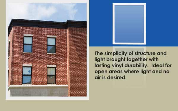 Residential Vinyl Picture Window Slider One