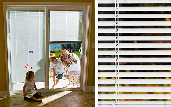 Residential Vinyl Sliding Doors Blinds Between Glass
