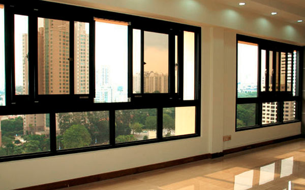Commercial Aluminium Slider Windows Slide One