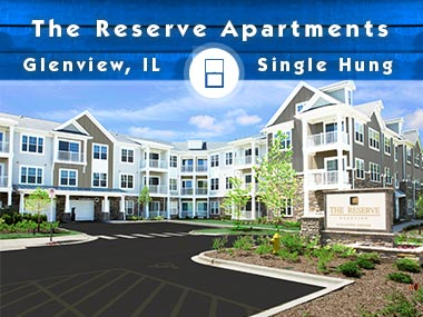 The Reserve Apartment Complex Single Hung Window Project